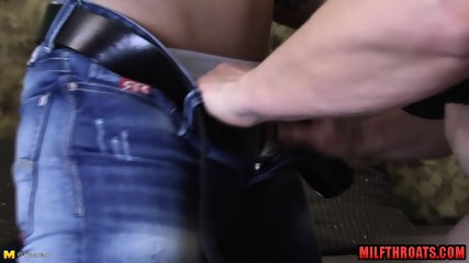 Hairy milf oral with cum in mouth