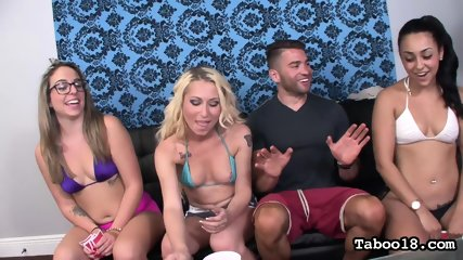 Girls Are Watching Their Kinky Friend In Action - scene 2