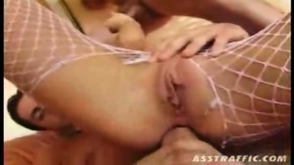 Tight blonde fucks two horny guys until they cum on her - scene 6
