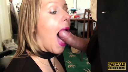 Spunk Eating Subslut Ashley Rider Disciplined By Master