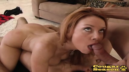 Busty Redhead MILF Janet Mason Gets Stuffed By Two Big Cocks At Once