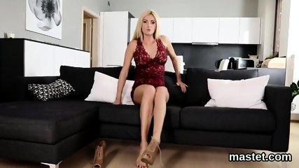 Naughty czech chick stretches her slim snatch to the strange