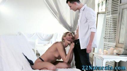 Lovingly stroking babe
