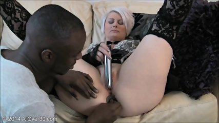 Mature Blonde Wants To Try Black Cock - scene 6