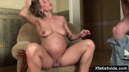 Hairy pussy pregnant anal sex and cumshot