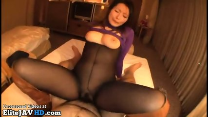 Japanese Pantyhose Sex With Busty Milf - scene 10