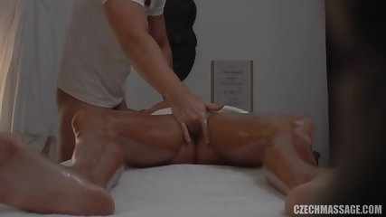Hot Customer Gets Banged On Massage Table - scene 8