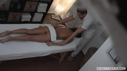 Hot Customer Gets Banged On Massage Table - scene 2