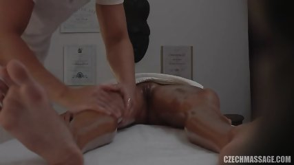 Hot Customer Gets Banged On Massage Table - scene 6