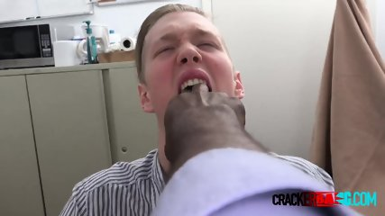 White cracker is subdued into taking directors cock for some dough