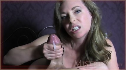 Elated Woman Makes Hard Dick Cum