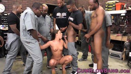 Blacked slut cum drenched