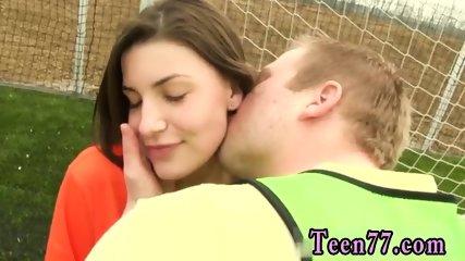 Hot irish teen first time Dutch football player pummeled by