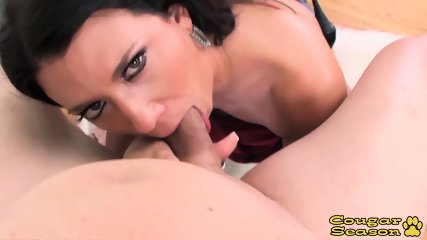 Seductive Busty Cougar Leena Sky Deepthroats A Big Cock In POV