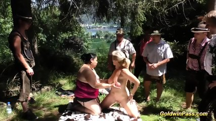 outdoor orgy videos