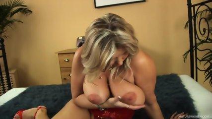 Busty Mom Takes Hard Cock - scene 1