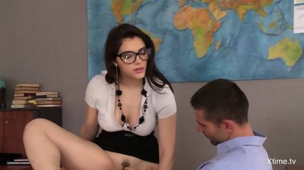 Guy Gets Sucked By Two Hot Teachers - scene 1