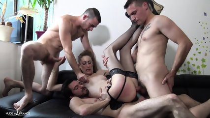 Her First Gang Bang - scene 9