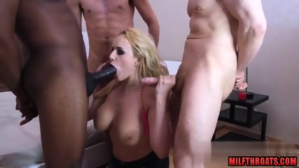 Big tits milf dp and creampie