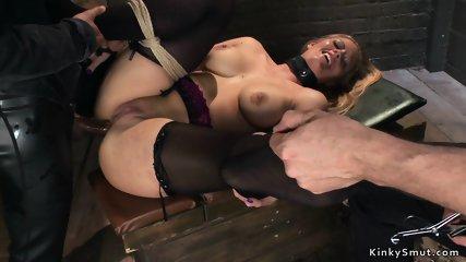 Hot Milf slaves getting anal fuck