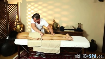 Asian babe spermed by masseur