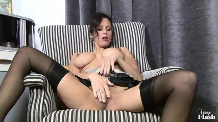 Elegant Woman With Stockings Plays With Herself - scene 5