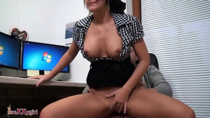 IT Serviceman Fucks Hot Brunette Secretary - scene 11