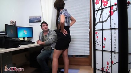 IT Serviceman Fucks Hot Brunette Secretary - scene 5