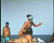 Giant Boobs on the Beach - scene 6