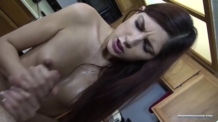 Sexy Girl Gives Nice Handjob - scene 10