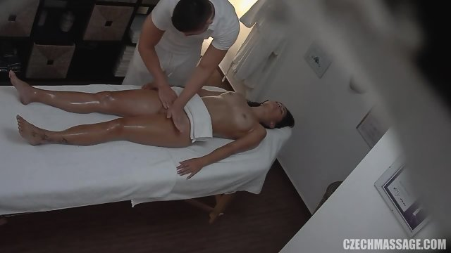 Kinky Masseur Touches Her Pussy