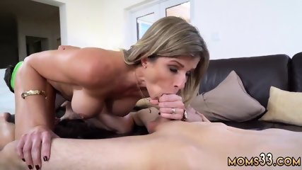 Blonde tag team blowjob Stepmom Turns Wet Dreams Into Reality