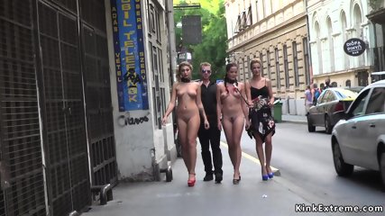 Naked sluts walked in city center
