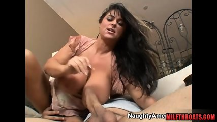 Brunette milf sex and cum on tits
