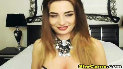 Shemale in Lingerie Jerking her HardCock live