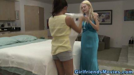 Fingered lesbian bride