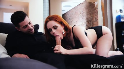 Stunning Redhead Filled With Sperm - scene 6