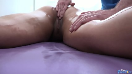 Busty Blonde Enjoys Massage - scene 3