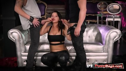 European pornstar threesome and facial