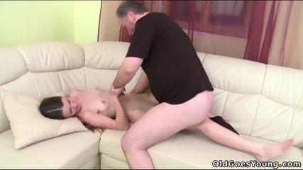Nina Fucks With Old Guy - scene 8