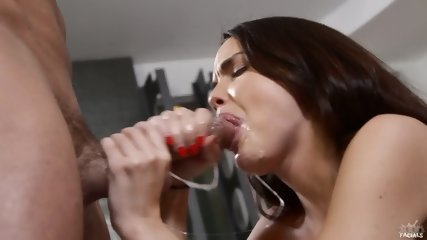 Cock Licking By Hot Brunette - scene 12