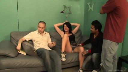 Sexy Babysitter Ashli Gets Gang Banged - scene 1