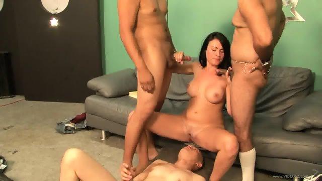Sexy Babysitter Ashli Gets Gang Banged
