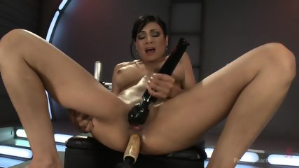 Beautiful Brunette Loves Kinky Toys - scene 9
