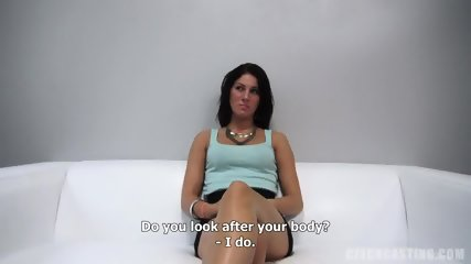 Babe Plays With Cock At The Casting - scene 2