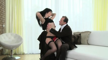 Horny Mommy With Stockings Wants Hard Dick - scene 1
