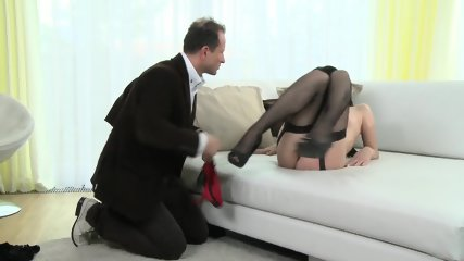 Horny Mommy With Stockings Wants Hard Dick - scene 2