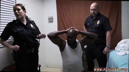 Interracial rough gangbang big tits xxx Milf Cops