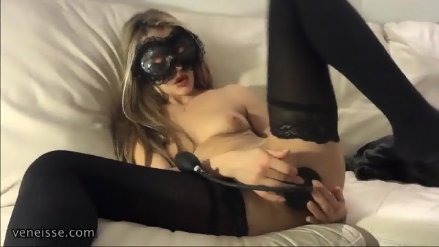Masked Girl And Her Toys