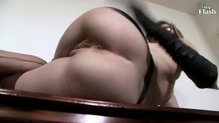 Elegant Woman Masturbates On Desk - scene 9